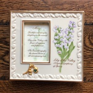 "Lenox square ""May"" birthstone frame"